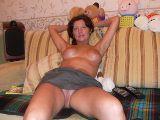 Hot woman fucking with dildo on the sofa 28